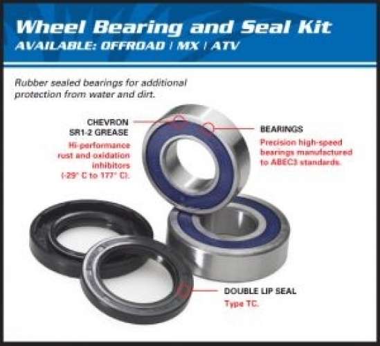 AllBalls Radlager Kit Wheel Bearing Kit  25-1037