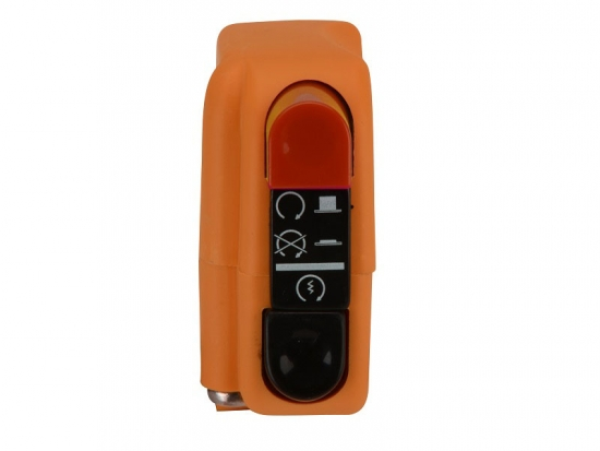 0406AB.9A.04-00 Domino Lenker Multifunktionsschalter Orange rechts  Start-Stopknopf und Kill Switch