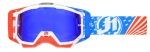 JUST1 Iris USA Crossbrille in der Farbe blau,rot,wei�