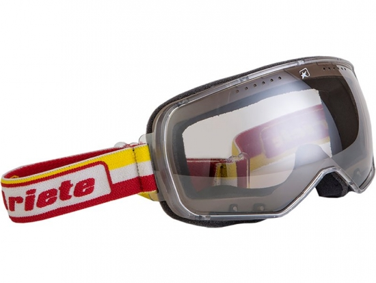 14920 Ariete Motorrad Brille Typ FEATHER Farbe gelb/weiss/rot Goggles