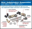AllBalls Hinteres Einzelradaufhängungs Kit Rear Independent Suspension Kit + (Bushing Only Kit) Passend f. siehe DropDown Auswahl