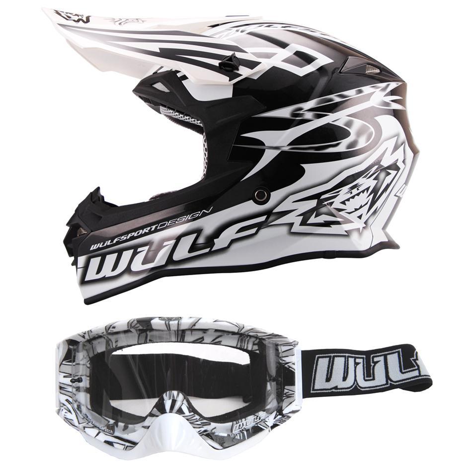 Wulfsport Prima-X Cross Helm XL 61-62cm schwarz Motorrad Quad Bike Enduro BMX