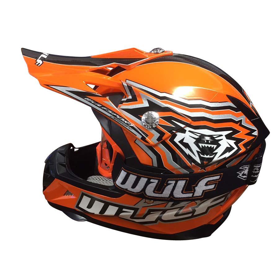 weiß Motorrad Quad Bike Enduro MX BMX 63-64cm Wulfsport Prima-X Cross Helm XXL