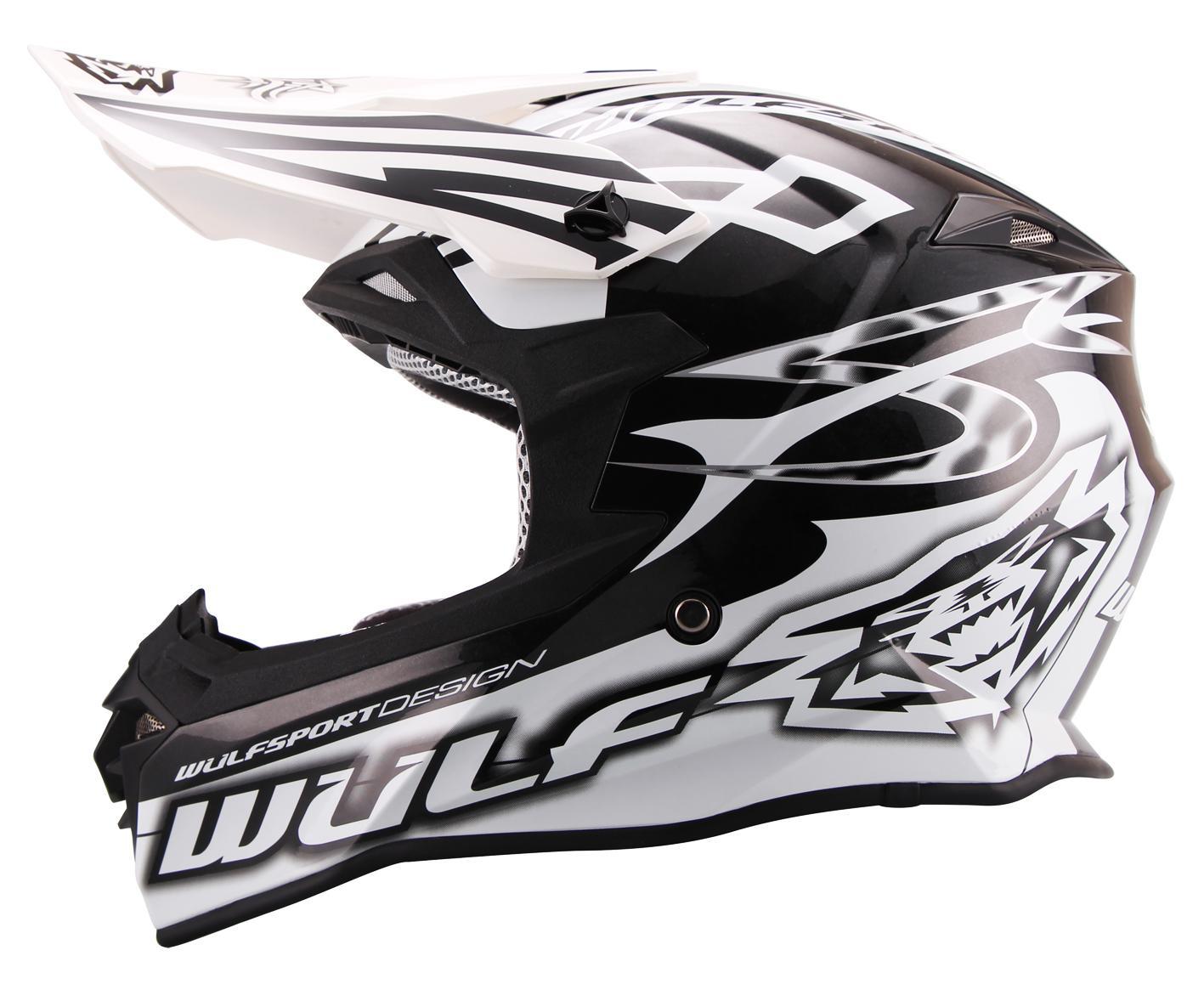 weiss Motorrad Quad Bike Enduro MX BMX Wulfsport Cross Helm Sceptre M 57-58cm